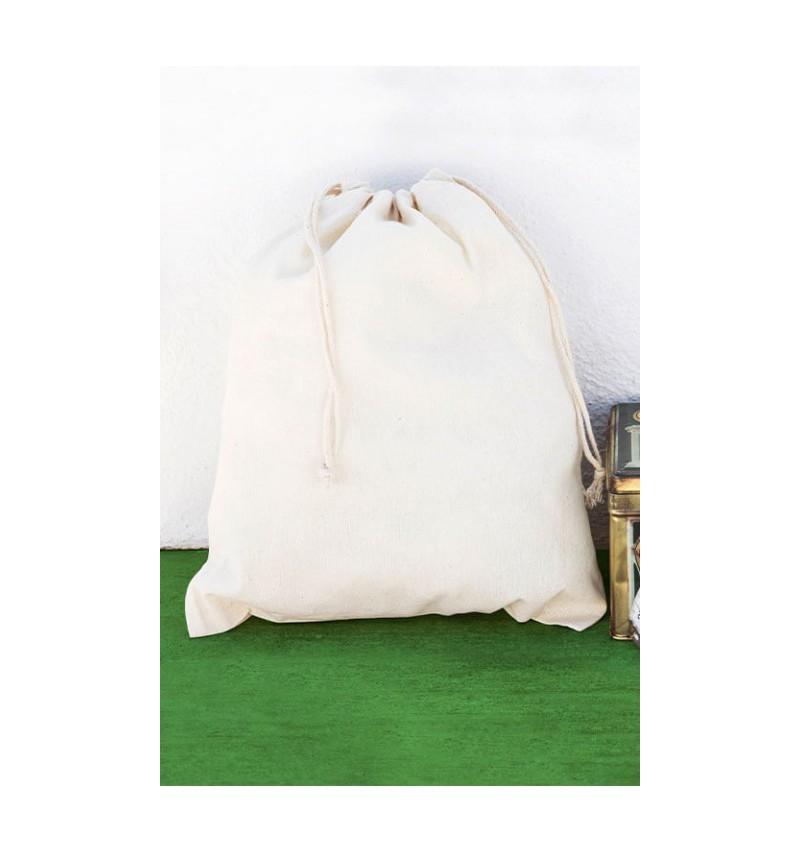 Saco de algodón orgánico con cordón doble 15x20cm