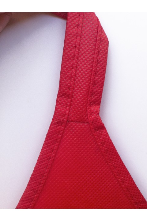 Bolsa de no-tejido con asas continuas y base 34x41+14 cm.