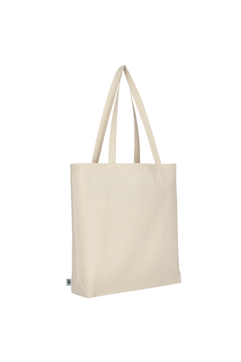 Tote bag with 10 cm bottom and two long handles. 38x42 cm