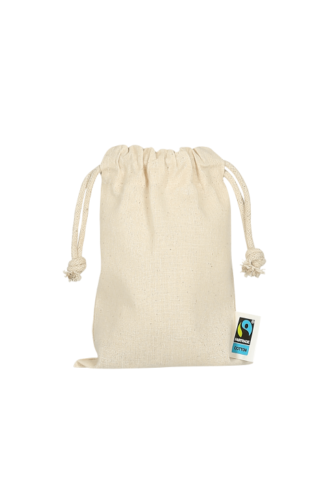 copy of Organic cotton double drawstring sack 10x14 cm.