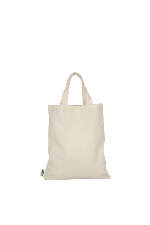 Small cotton bag with two short handles. 22x26 cm