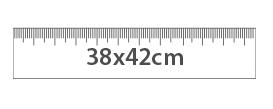 Medidas de la bolsa de tela 38x42 cm